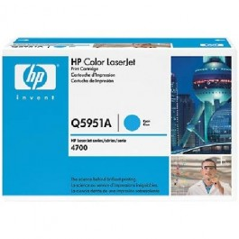 TONER CARTRIDGE HP Color LaserJet 4700, niebieski; 10 000 kopii